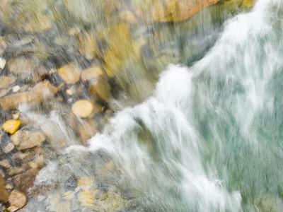 Slow exposure River thru Johnston Canyon Alberta