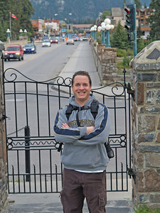 photo by Elana Howard with town of Banff behind