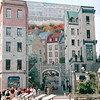 Quebec City Mural - Hotel Frontenac on the Hill - Nature's Sunshine Award Trip - Holland America New England & Canada Cruise - June 21 to 28, 2003