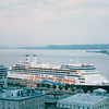 View of the Ship From Quebec City - The Rotterdam - Nature's Sunshine Award Trip - Holland America New England & Canada Cruise - June 21 to 28, 2003
