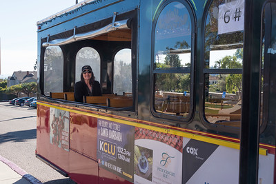 Street trolley through Santa Barbara