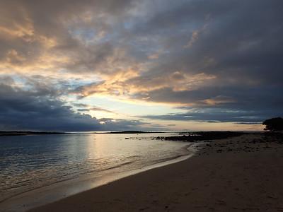 Sunset at Manglecito Beach on San Cristobal Island