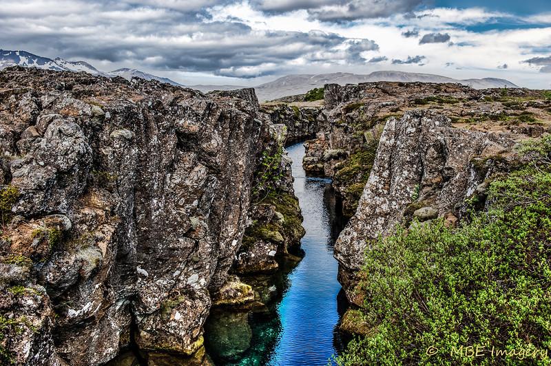 Gorge at Þingvellir National Park