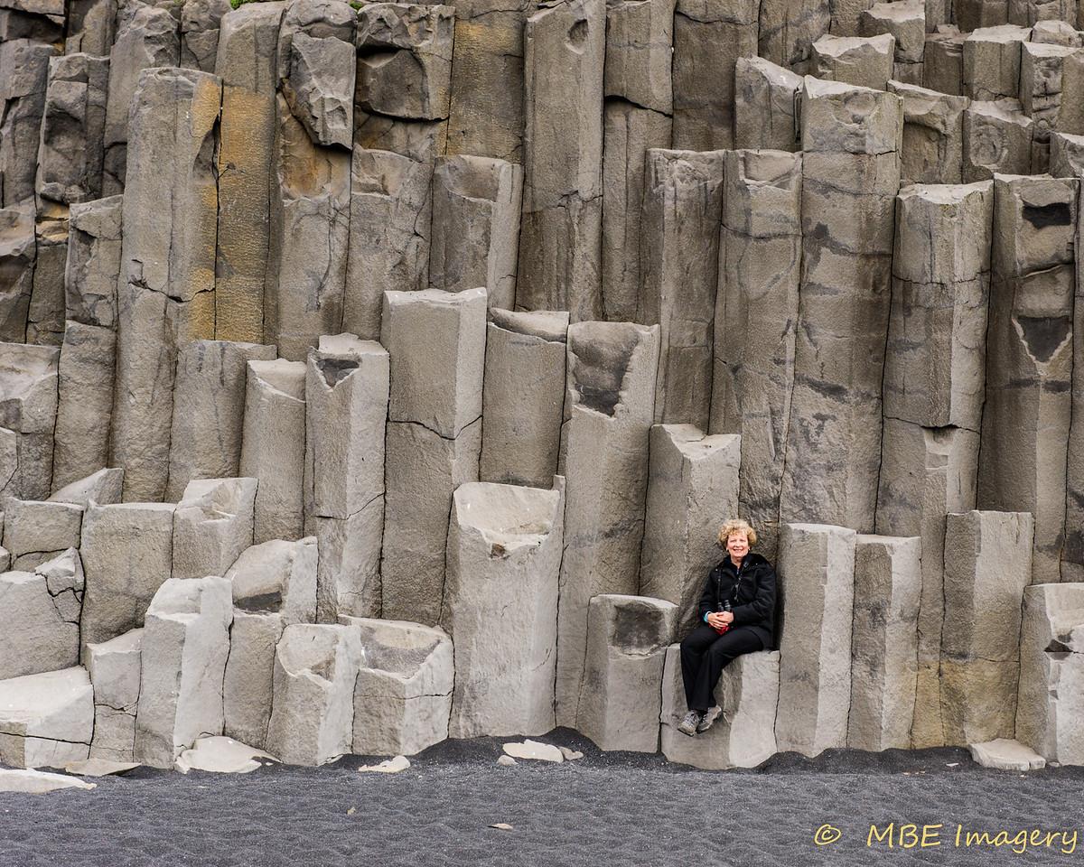 Basalt Columns at Hálsanefshellir