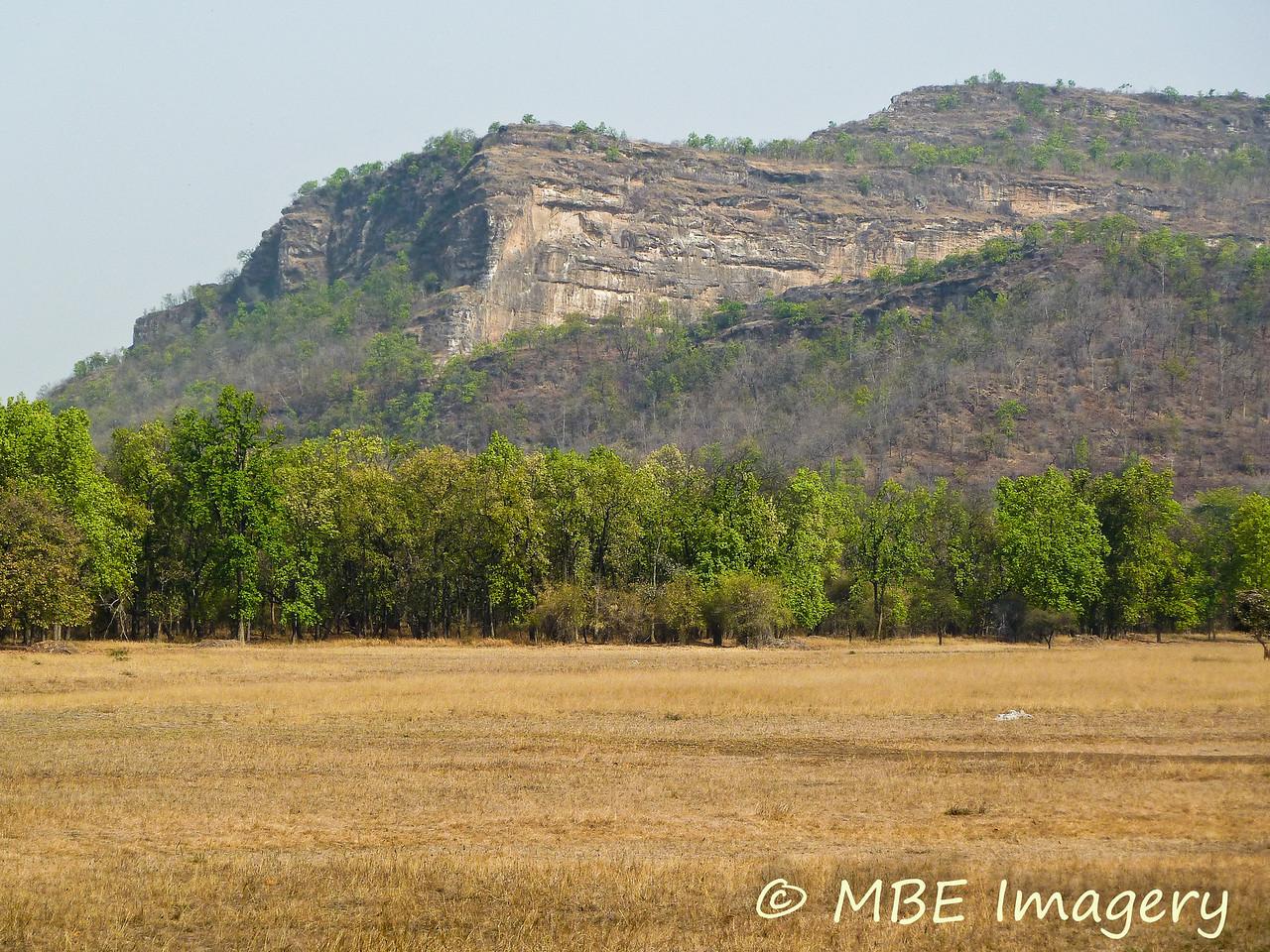 Rock outcropping at Bandhavgarh National Park