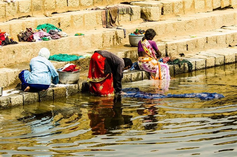 Laundry at the dam