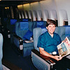 Randal Holding Japanese Newspaper - Malaysian Airlines - First Class WOW  7-22-94