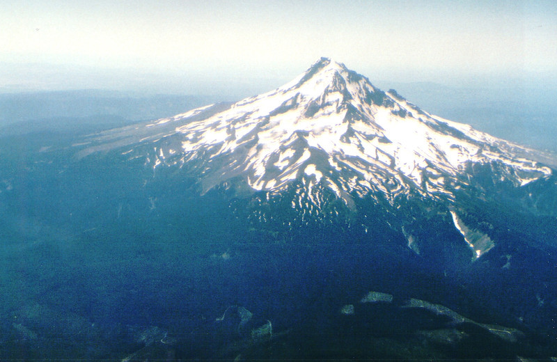 Flying Over Mt. Hood, Oregon  7-21-94