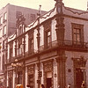 House of Tiles from 1596 - Mexico City - May 1979<br /> an 18th-century palace in Mexico City, built by the Count del Valle de Orizaba family. What makes this palace, in the City of Palaces, distinctive is that its facade on three sides is completely covered in the expensive blue and white tile of Puebla state. The palace remained in private hands until near the end of the 19th century. It changed hands several times before being bought by the Sanborns brothers who expanded their soda fountain/drugstore business into one of the best-recognized restaurant chains in Mexico. The house today serves as their flagship restaurant.