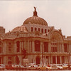 "Palace of Fine Arts - Mexico City - May 1979<br /> Considered one of the world's most beautiful buildings, the Mexico City Palace of Fine Arts - or Palacio de Bellas Artes - is a harmonious synthesis of Art Nouveau, Art Deco, and Baroque styles, a style sometimes called ""Porfiriano,"" after architecture-obsessed Mexican President Porfirio Díaz, who commissioned the project.  The exterior rises in elegant columns and domes. Inside, it is an exceptional art exhibition, filled with a permanent collection of statues, murals, and other outstanding ornamentation. <br /> <br /> You can appreciate the building's acoustic excellence by enjoying a performance at its National Theater. We saw the Ballet Folklórico de México here."