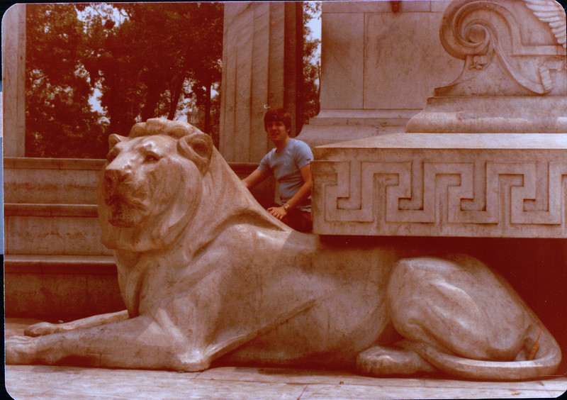 Randy at Benito Juarez Monument - Mexico City - May 1979<br /> Neoclassical monument made of marble to Benito Juarez, Mexico's first indigenous president.