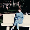 Donna on Bench in Tecate, Mexico - 2/1/86