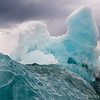Iceberg Shaped by Wave Action
