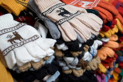 wool goods in aguas caliente market