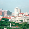View From Hotel Balcony - City Hall & Downtown Business Center Near Harbor - Singapore - March 2002