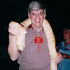 Randal With Albino Ball Python Around Neck - Dinner at Night Safari - Singapore - March 2002