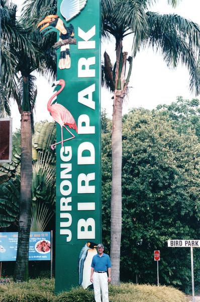 Randal at Jurong Bird Park Entrance Sign - Singapore - March 2002