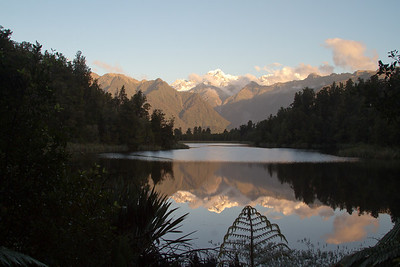 Fox Glacier at Lake Matheson