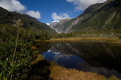 Franz Josef Glacier over Peter's Pool