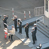 Port Band Playing for Passengers Going Ashore - From Ship's Deck - St. Petersburg, Russia