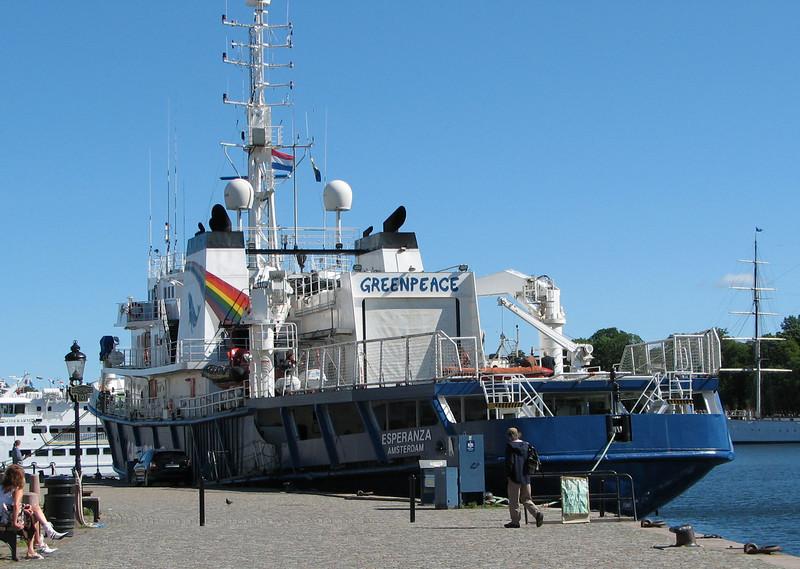 Greenpeace Ship, Esperanza, Docked in Stockholm, Sweden