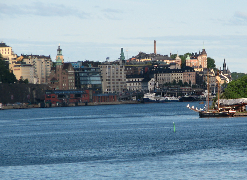 Coming Into Port on the Ship - Stockholm, Sweden
