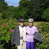 Donna and Louise by the Roses on a Road in Visby, Sweden