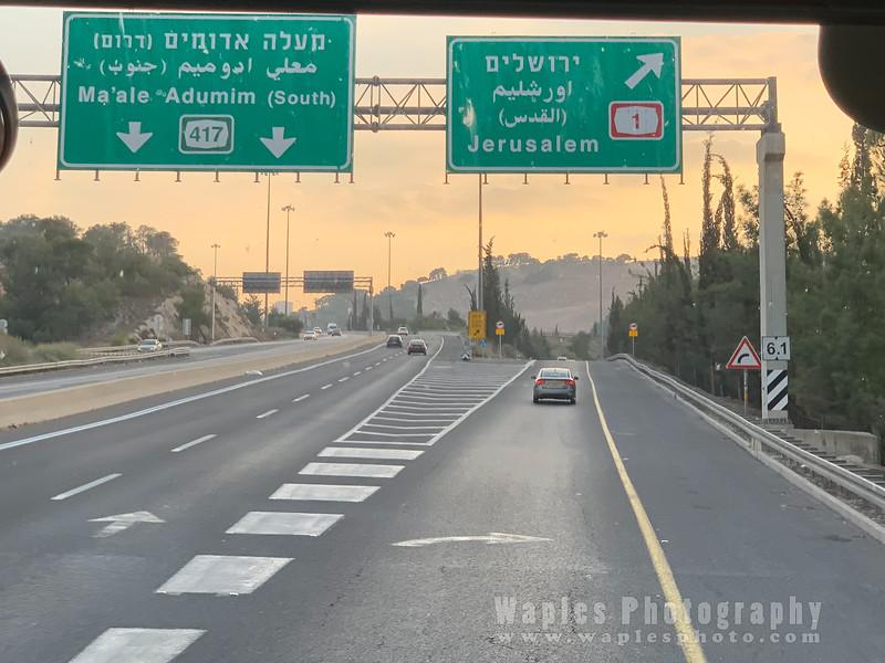 Approaching Jerusalem!