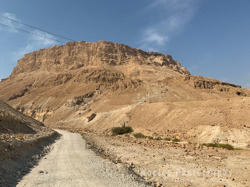 Hiking up to Masada