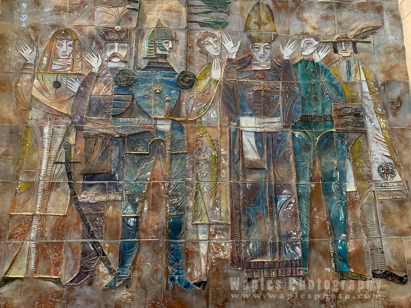 Mosaics inside Church