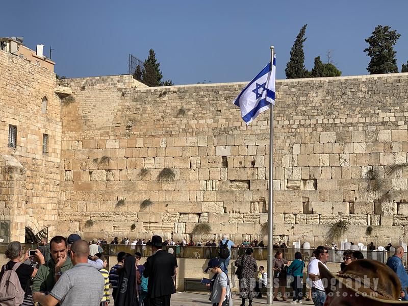 Israeli Flag at the Western Wall