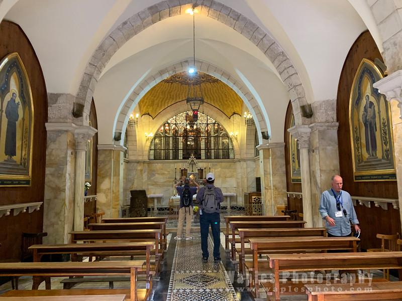 Inside Chapel of the Flagellation