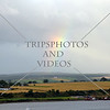 A rainbow view over the countryside from the cruise Port of Invergordon, Scotland.