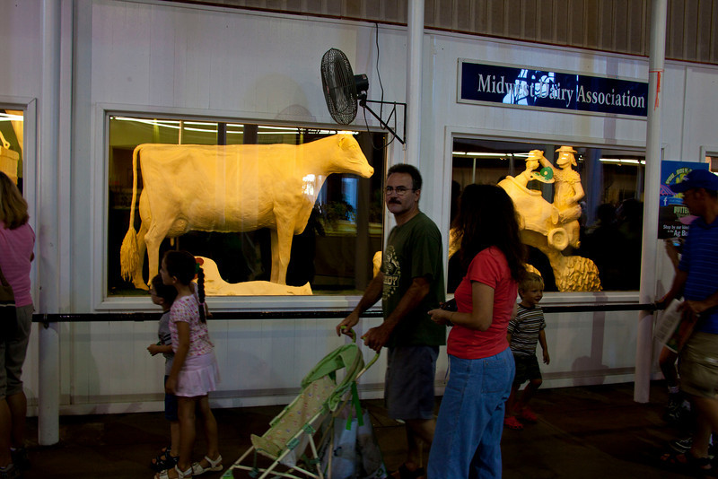 The famous cow butter sculpture. 900 lbs. of the stuff!