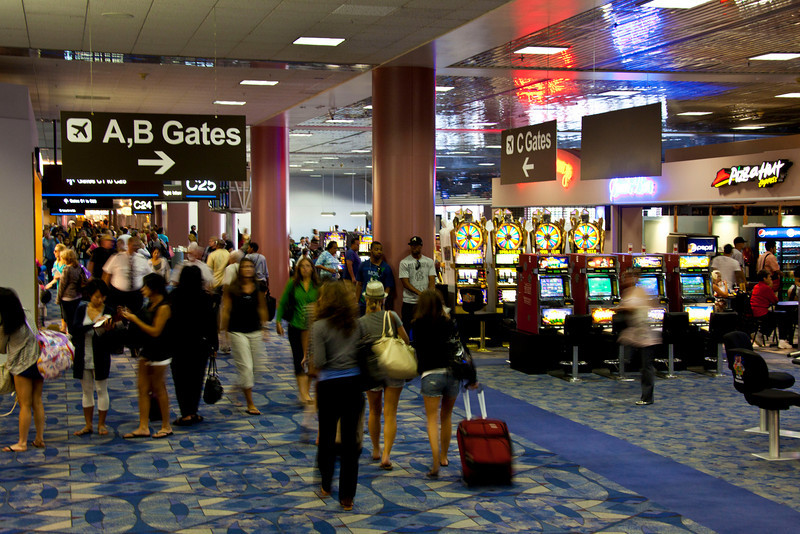 There is no airport anywhere like the one at Las Vegas.