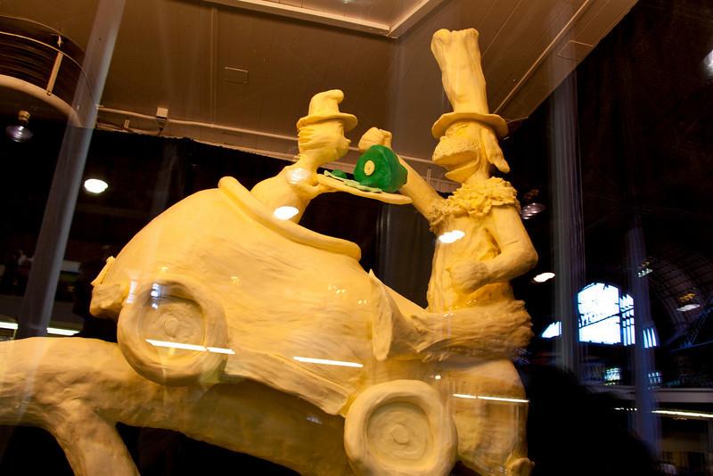 Cat in the Hat sculpture in Iowa butter