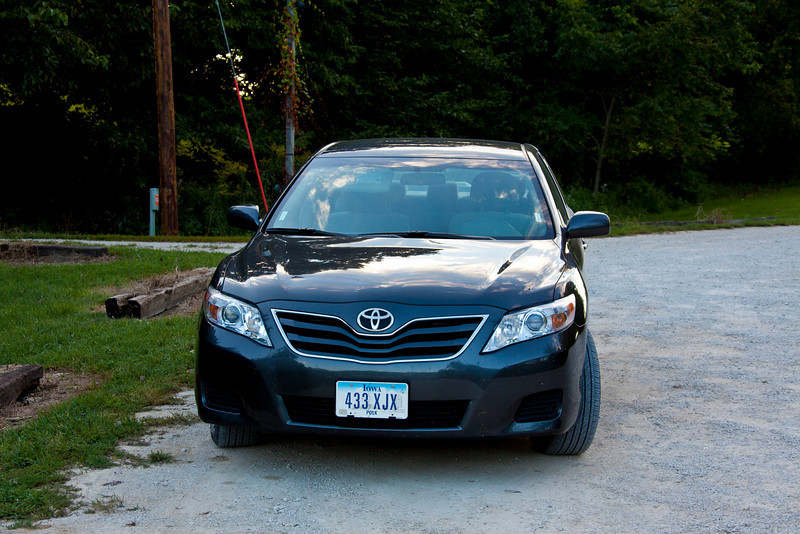 """Our chariot for 1,301 miles of driving in Iowa (a Toyota Camry LE). """"LE"""" is Limited Edition, i.e., production was strictly limited to the number Toyota could sell. All in all, a pretty good 4 cyl. car."""