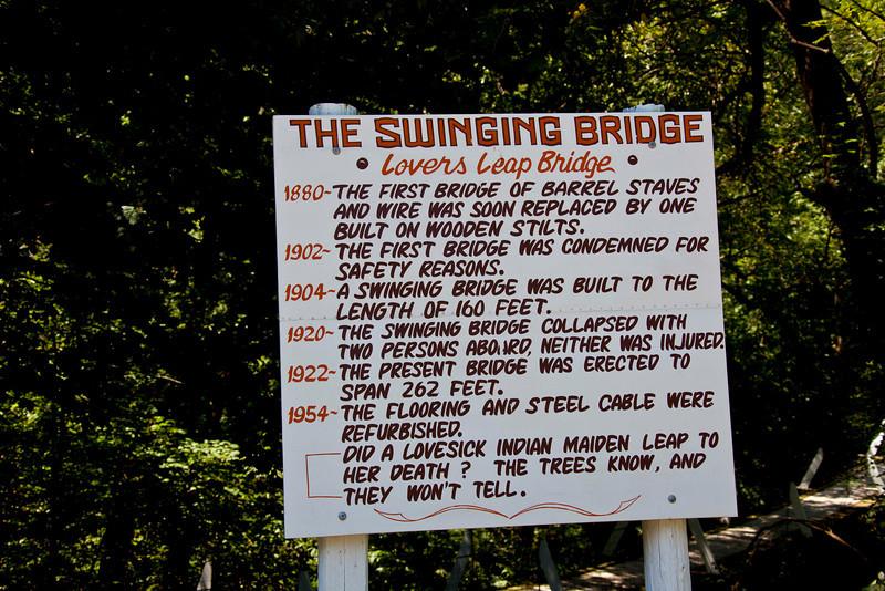 Swinging Bridge at Columbus Junction, IA.