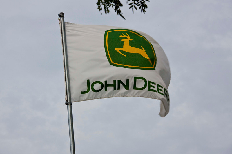 We took a 90 minute tour of the John Deere factory in Waterloo, IA. Photography inside the plant was prohibited, so here are photos of the finished products.