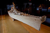 The USS Iowa, a 1/70 scale of the real thing. 137,000 matchsticks, 800 hours. 13' long. Closeups follow.