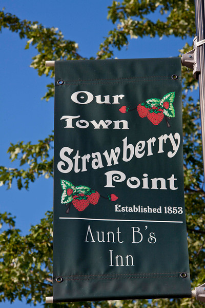 Strawberry Point, pop.1,100, home of the world's largest strawberry (and Aunt B's Inn).