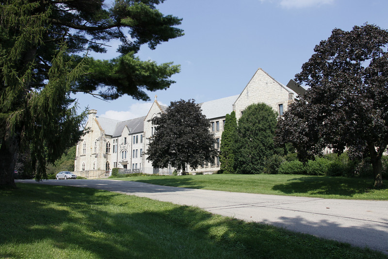 Trappist monastery south of Dubuque. Main occupation of the monks: Casket making.