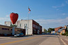 The world's largest strawberry (and Strawberry Point City Hall), and most of the town.