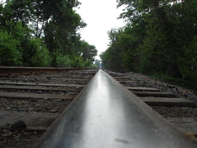 Those railroad tracks.