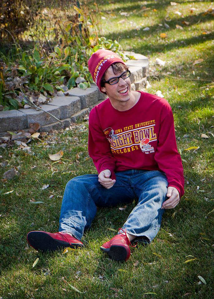 "Caroline saw this picture and said Adam looks like ""Where's Waldo""."