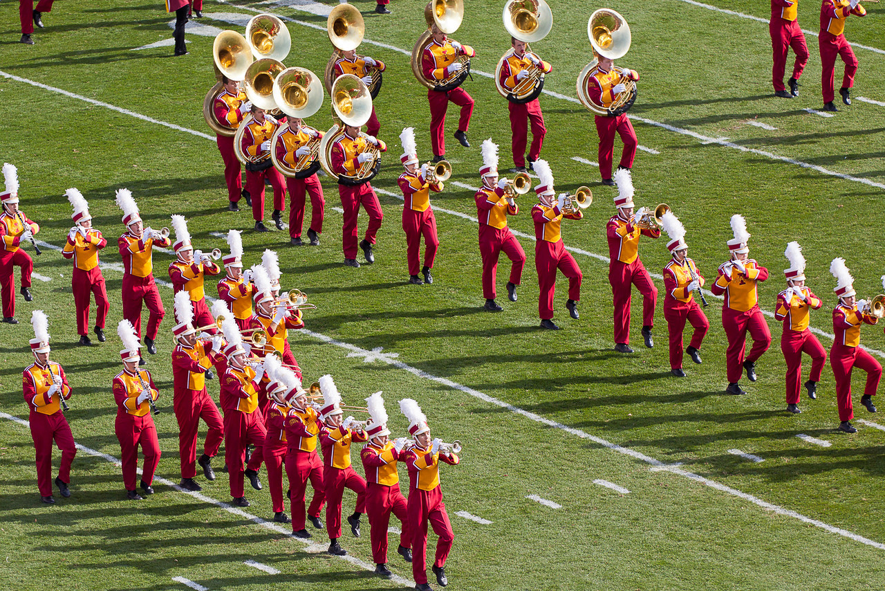 The band entertains us prior to the game.