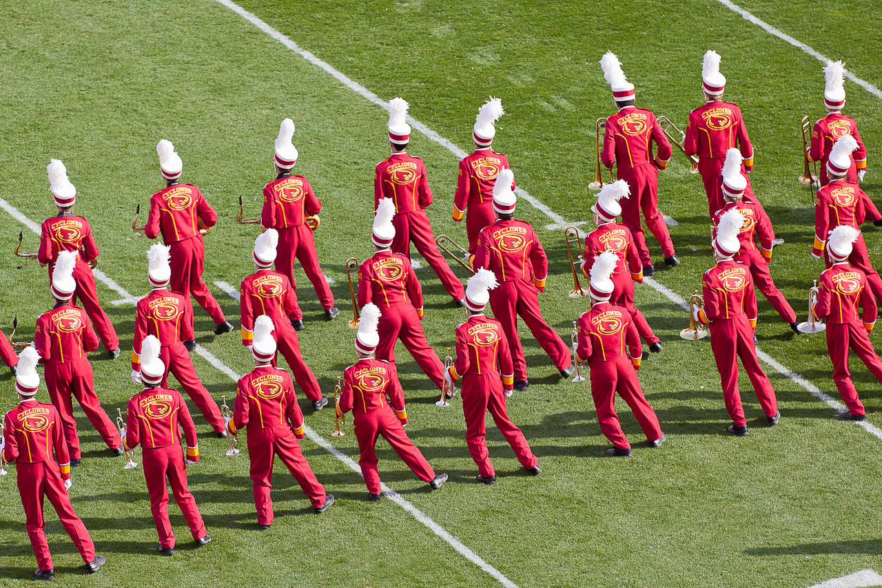 The band had some moves beyond what you normally see in a college marching band.