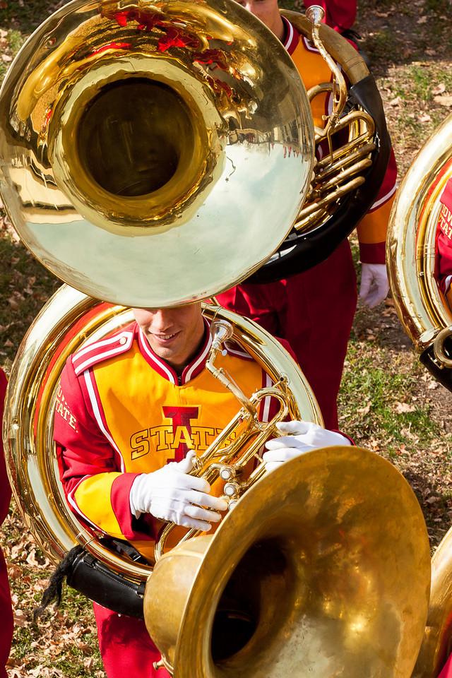 An interesting tuba configuration.