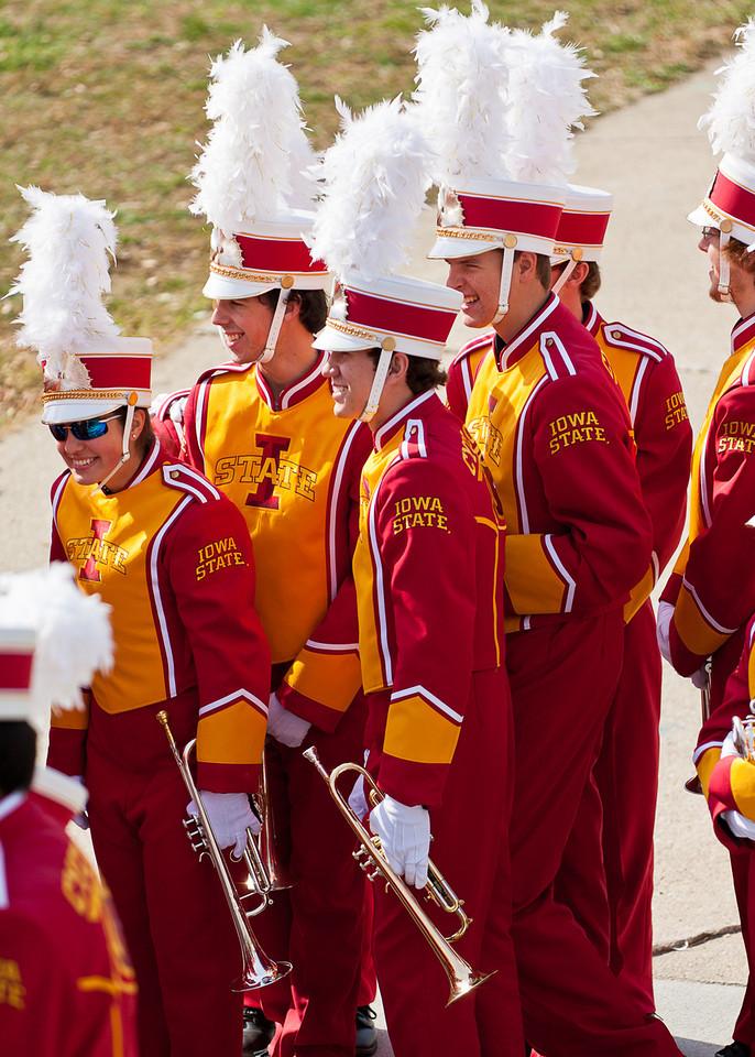 """My nephew Adam in the Iowa State University Football """"Varsity"""" Marching Band."""
