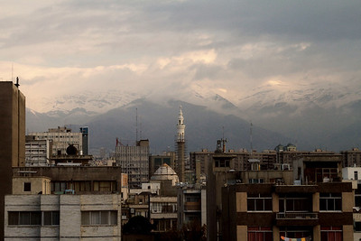 Early morning view from the hotel room, Tehran.
